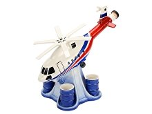 Штоф «Вертолет» с четырьмя стопками (арт. 82739)