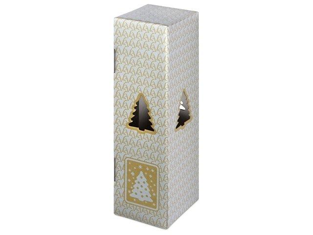 Новогодняя коробка для шампанского, серебро
