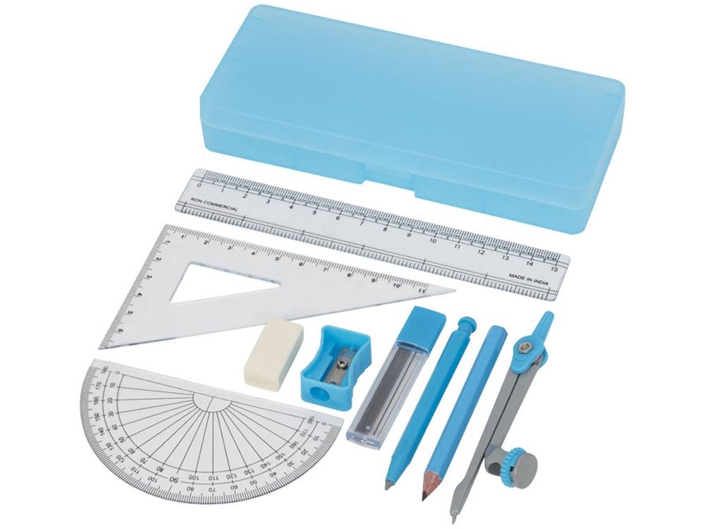 Школьный набор для геометрии Julia из 9 предметов, синий