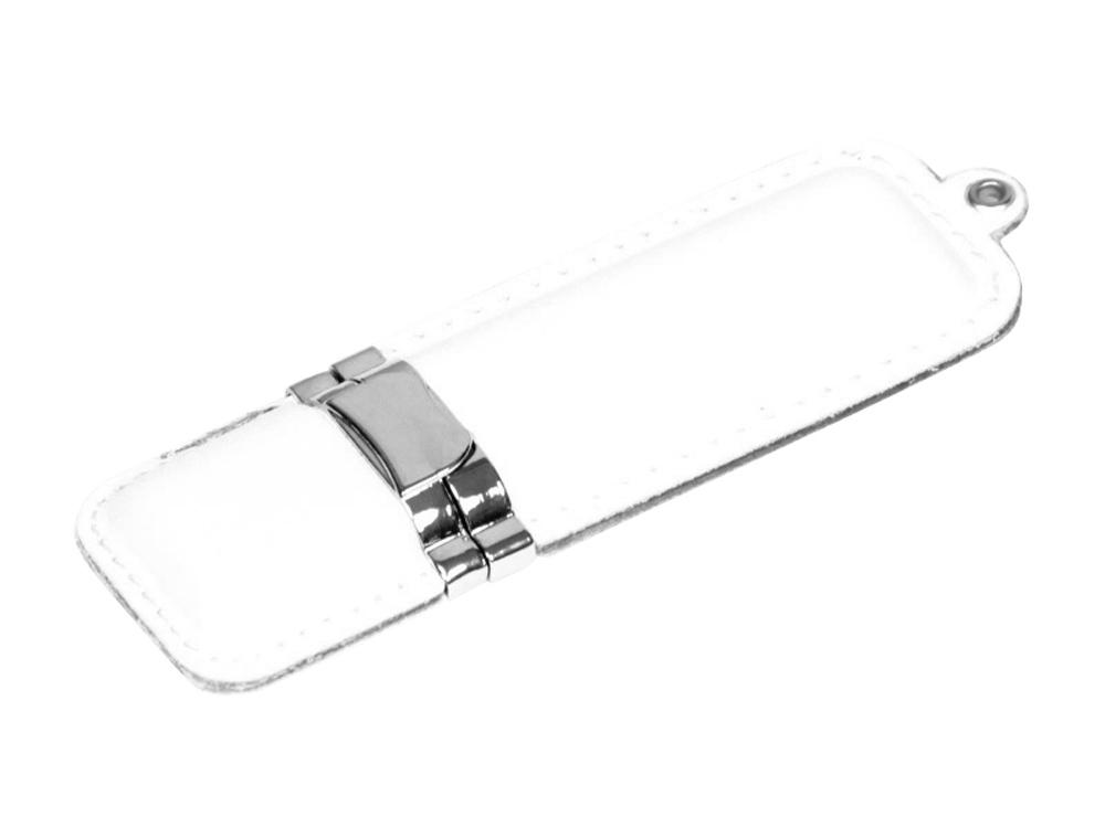 Флешка классической прямоугольной формы, 16 Гб, белый