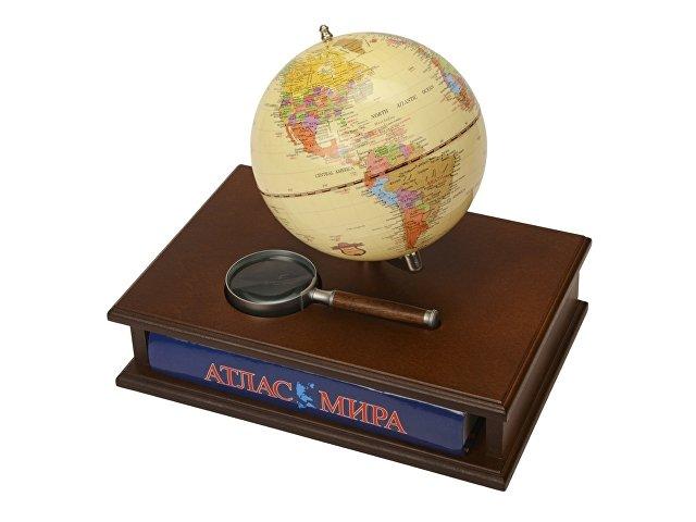 Настольный прибор «Магеллан»: глобус, лупа, атлас мира