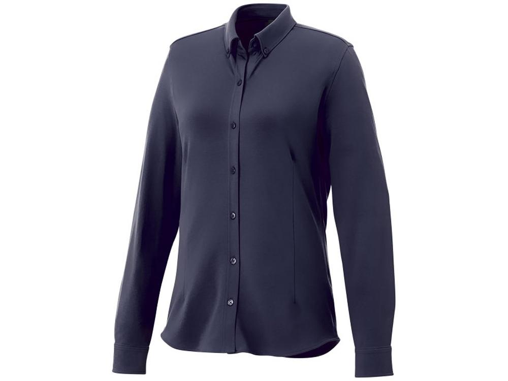 Женская рубашка Bigelow из пике с длинным рукавом, темно-синий