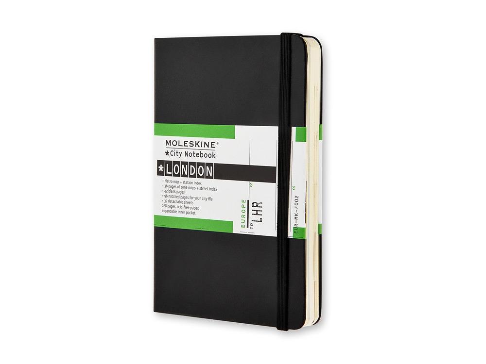 Записная книжка Moleskine City London (Лондон), Pocket (9x14 см), черный
