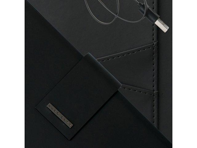 Папка А5 Loop Black с пауэрбэнком. Hugo Boss, черный