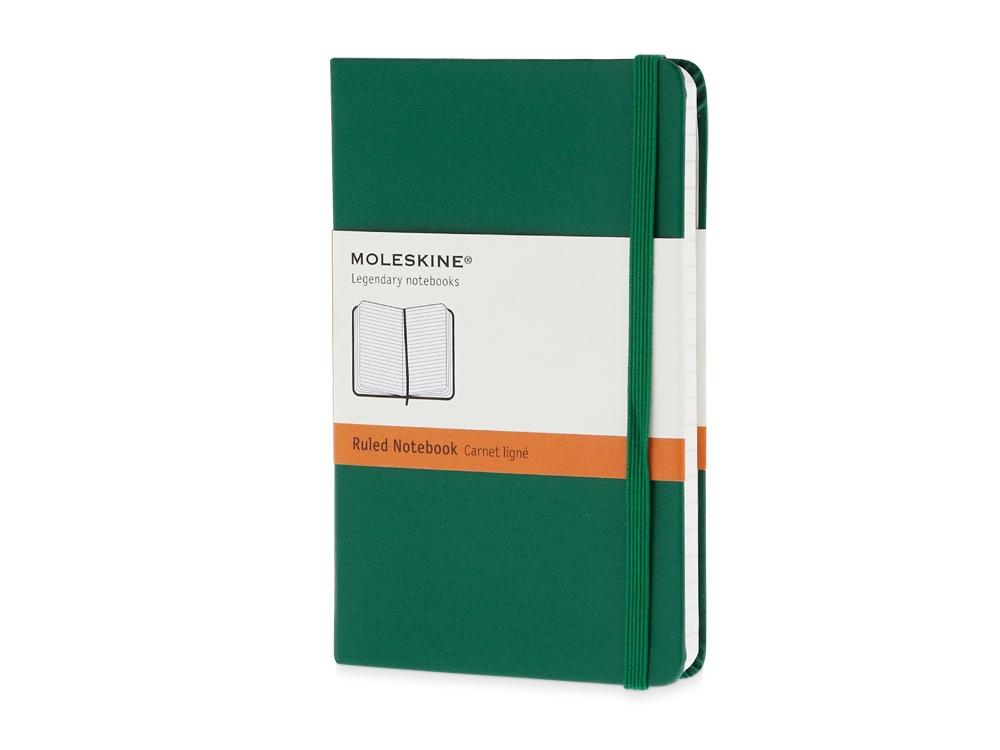 Записная книжка Moleskine Classic (в линейку) в твердой обложке, Pocket (9x14см), зеленый