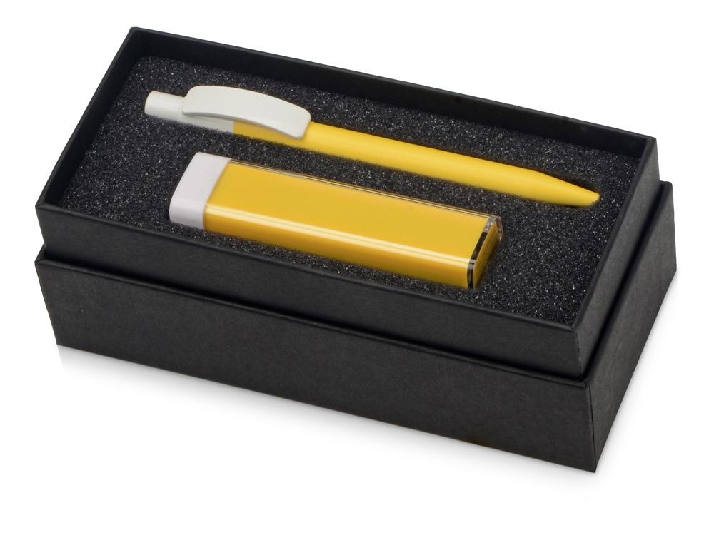 Подарочный набор White top с ручкой и зарядным устройством, желтый
