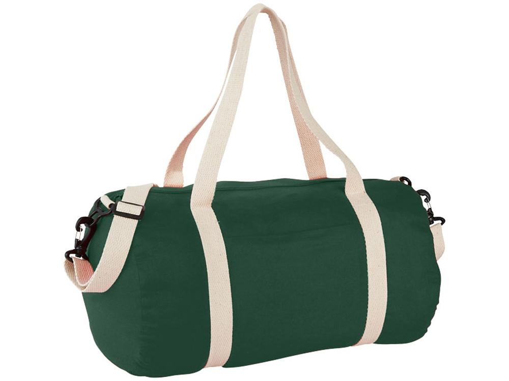 Хлопковая сумка Barrel Duffel, зеленый/бежевый