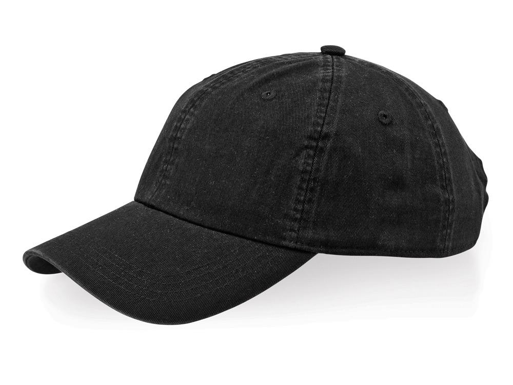 Бейсболка Verve 6-ти панельная, черный