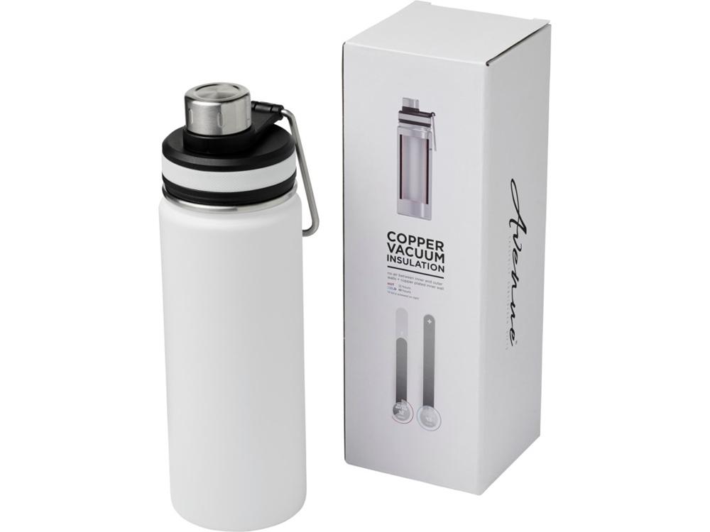 Спортивная бутылка Gessi объемом 590мл с медной вакуумной изоляцией, белый