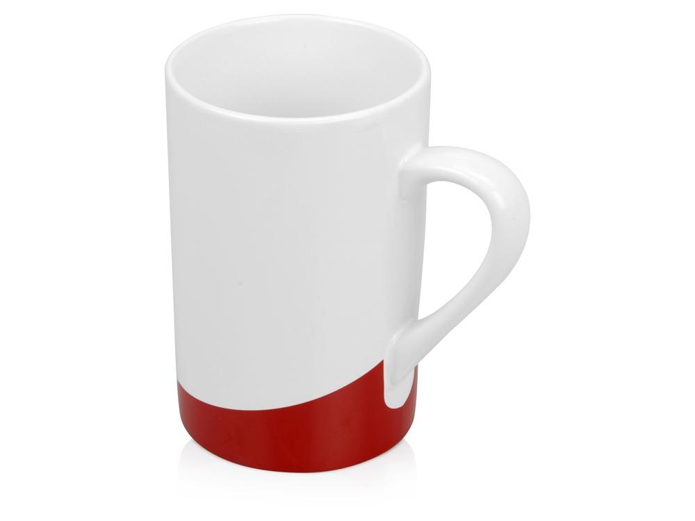Кружка Мерсер 320мл, белый/красный