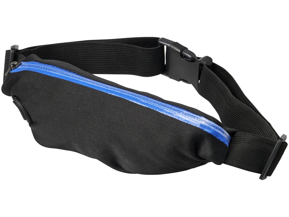 Эластичная спортивная поясная сумка Nicolas, синий