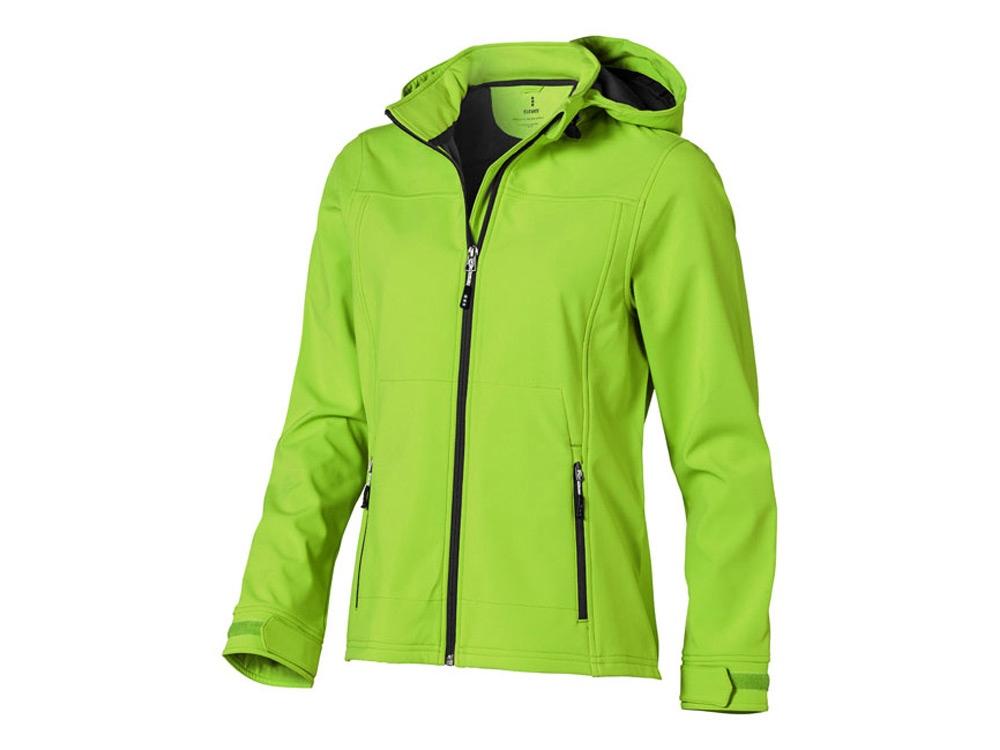 Куртка софтшел Langley женская, зеленое яблоко