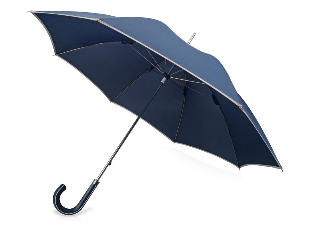 Зонт-трость Ривер, механический 23, темно-синий (Р)