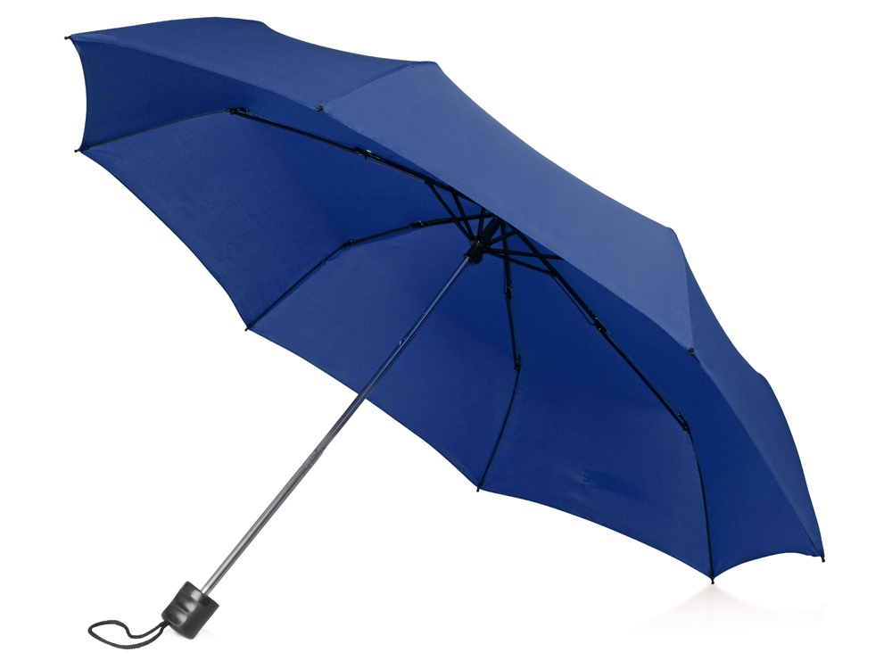 Зонт складной Columbus, механический, 3 сложения, с чехлом, кл. синий (Р)