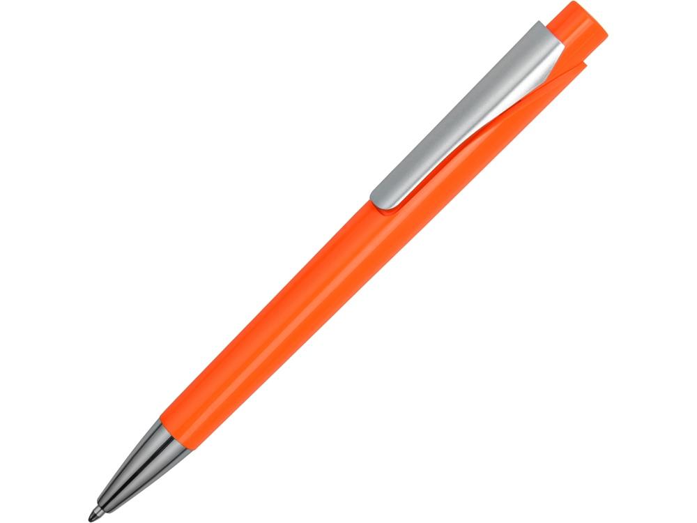Ручка шариковая Pavo синие чернила, оранжевый