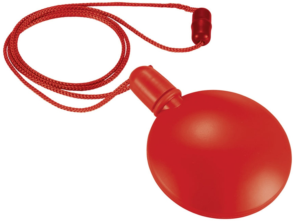 Круглый диспенсер для мыльных пузырей, красный