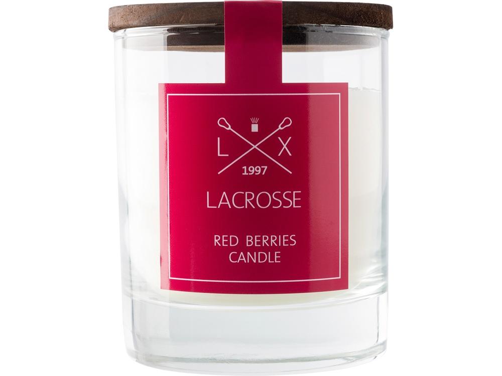 Свеча ароматическая в стекле Красные ягоды, красный