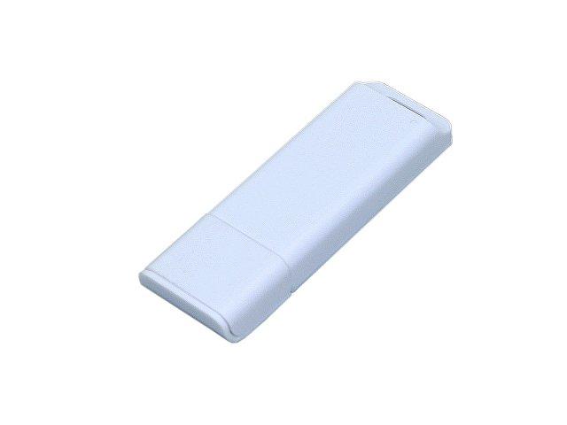 Флешка прямоугольной формы, оригинальный дизайн, двухцветный корпус, 64 Гб, белый