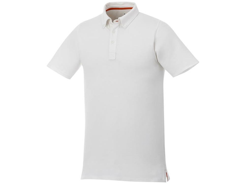 Мужская футболка поло Atkinson с коротким рукавом и пуговицами, белый
