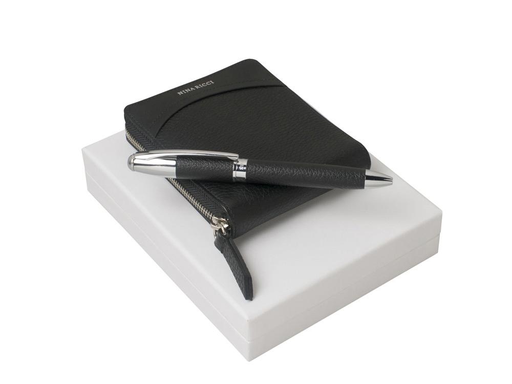 Подарочный набор Embrun: кошелек, ручка шариковая. Nina Ricci