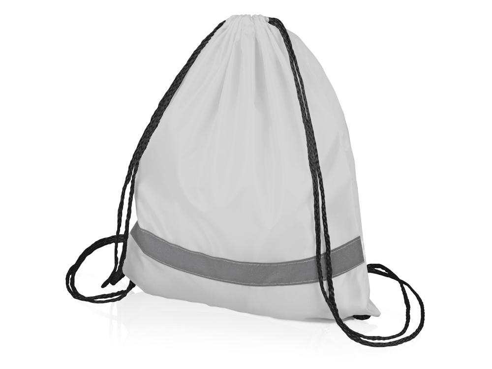 Рюкзак Россел, белый с черными шнурками