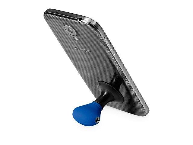 Музыкальный сплиттер-подставка для телефона Spartacus «2 в 1», синий/черный