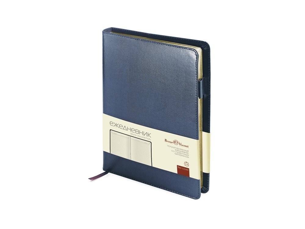 Ежедневник полудатированный портфолио А5  PROFY синий