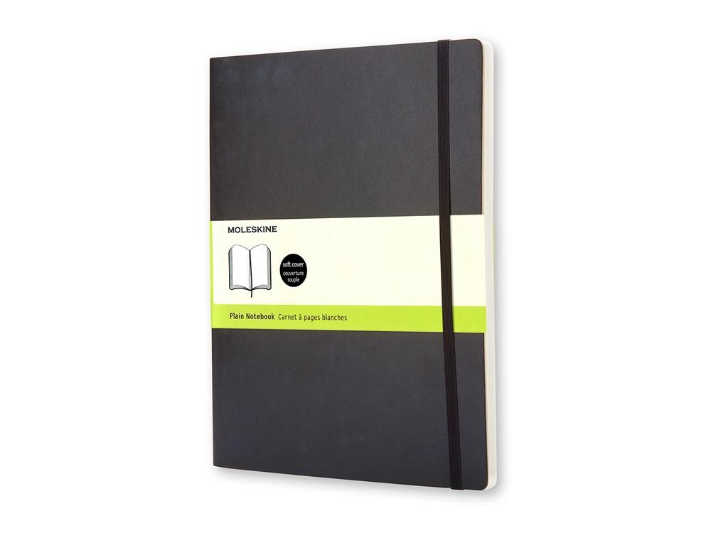 Записная книжка Moleskine Classic Soft (нелинованный), Хlarge (19х25 см), черный