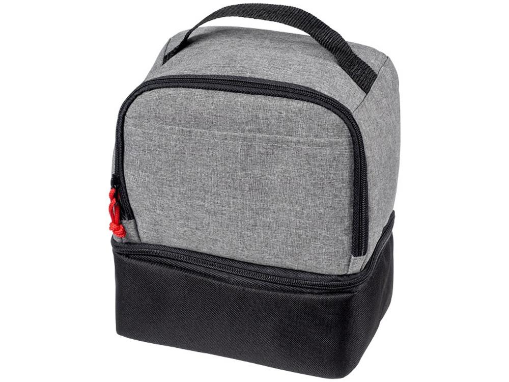 Двойная сумка-холодильник для ланчей, серый/черный