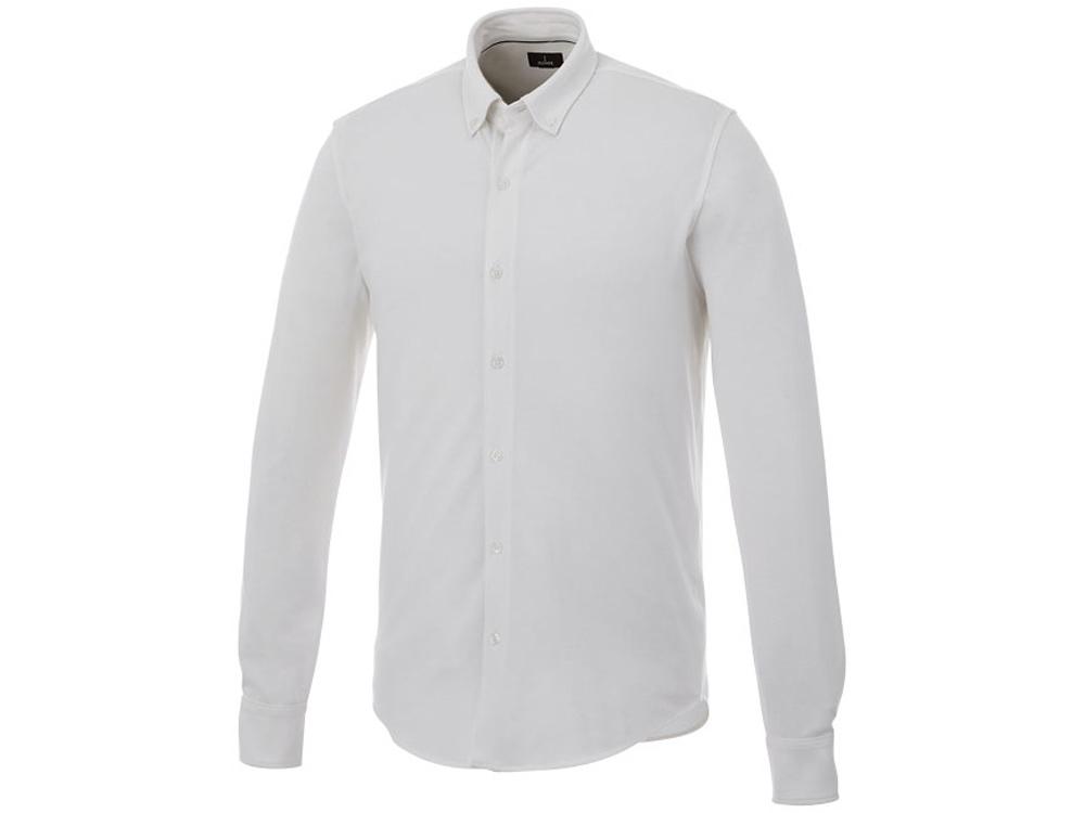 Мужская рубашка Bigelow из пике с длинным рукавом, белый