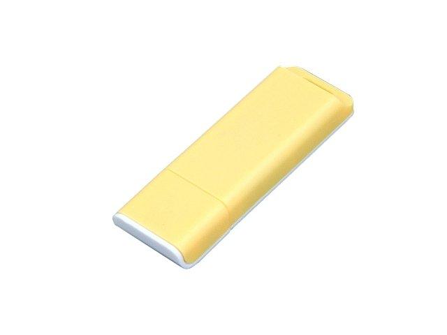 Флешка прямоугольной формы, оригинальный дизайн, двухцветный корпус, 64 Гб, желтый/белый