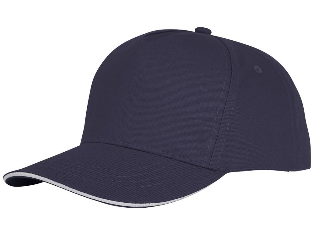 Пятипанельная кепка-сендвич Ceto, темно - синий