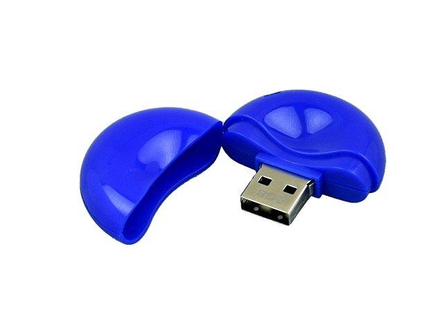 Флешка промо круглой формы, 16 Гб, синий