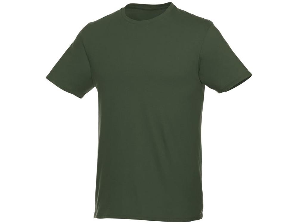Футболка-унисекс Heros с коротким рукавом, зеленый армейский