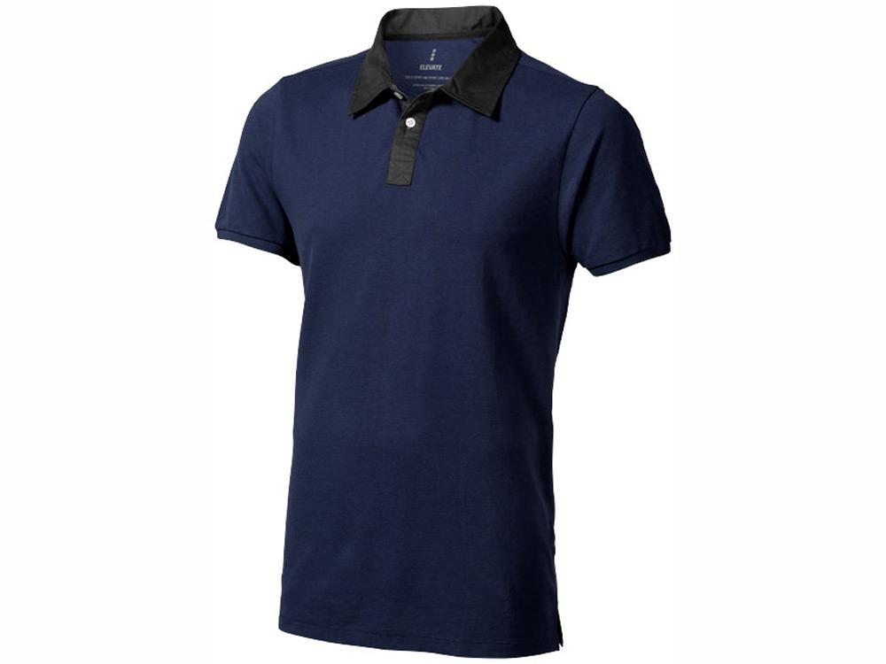 Рубашка поло York мужская, темно-синий/антрацит