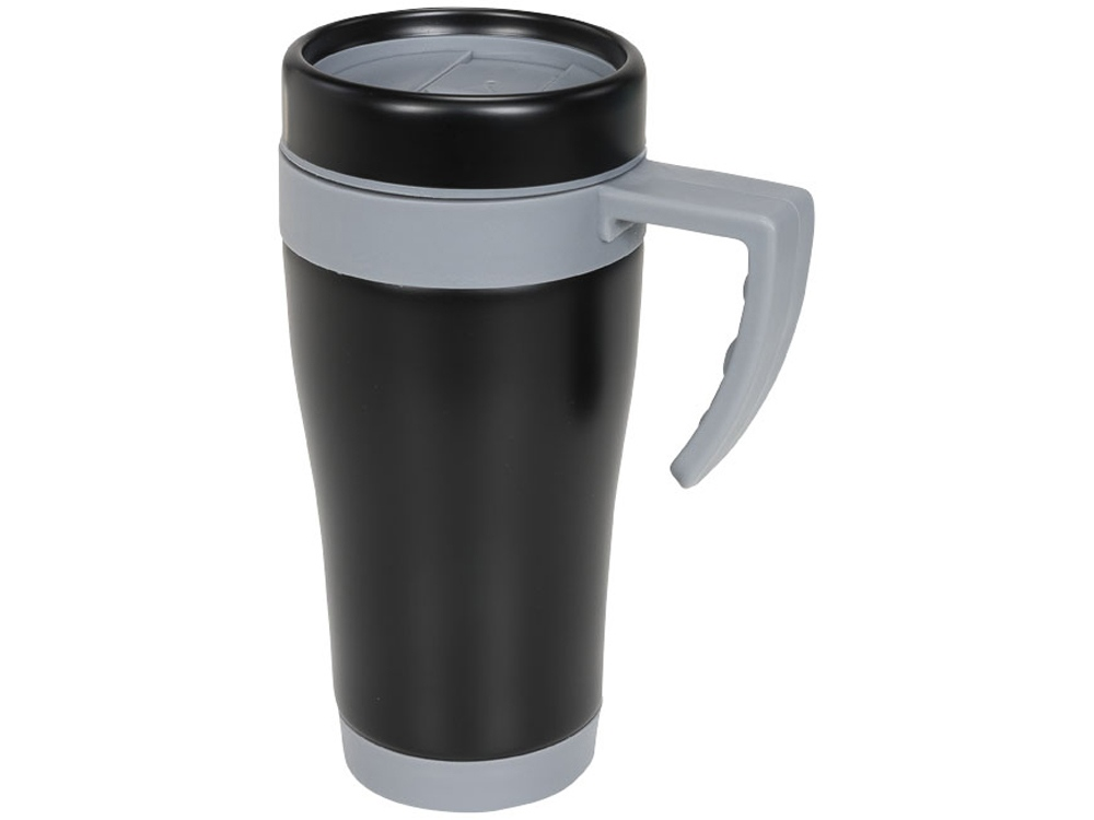 Кружка-термос Cayo 400 мл, черный/серый