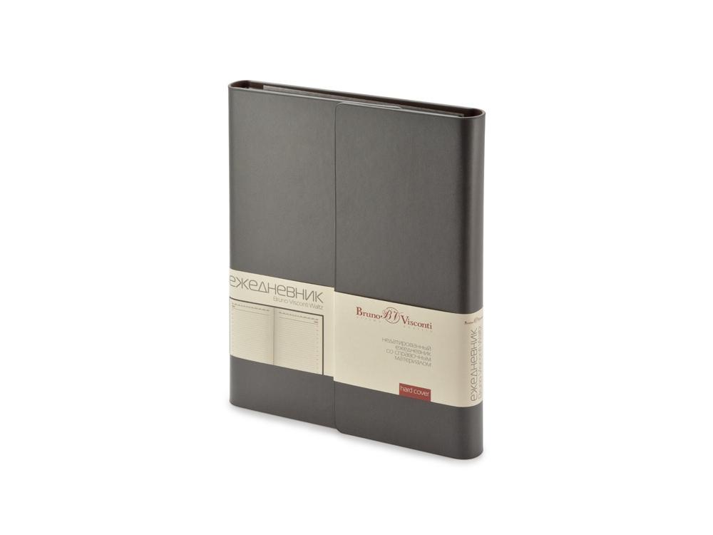 Ежедневник недатированный с магнитным клапаном, А5 WALTZ, темно-серый