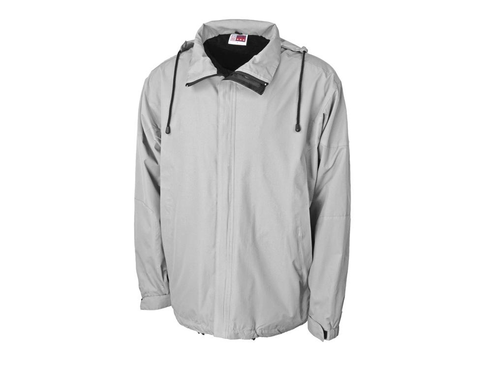 Куртка мужская с капюшоном Wind, серебристый