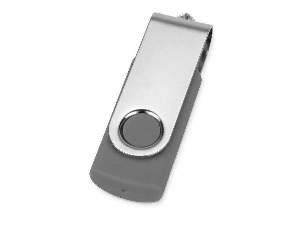 Флеш-карта USB 2.0 16 Gb Квебек, темно-серый
