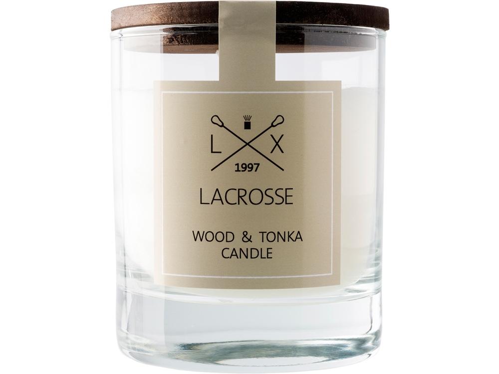 Свеча ароматическая в стекле Дерево & Тонка, бежевый
