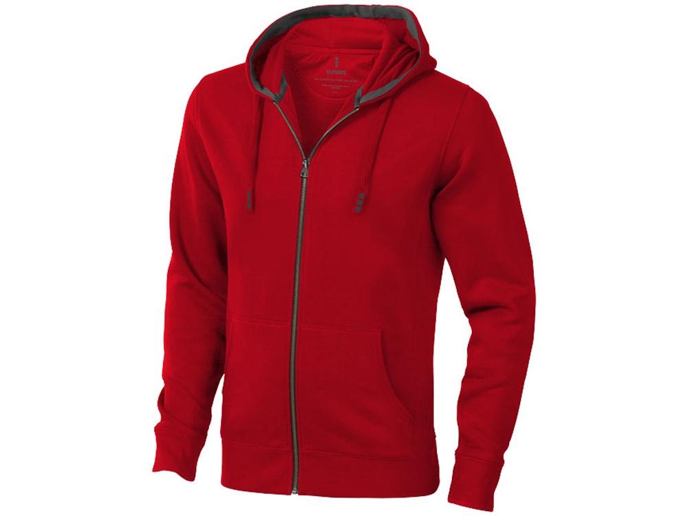 Толстовка Arora мужская с капюшоном, красный