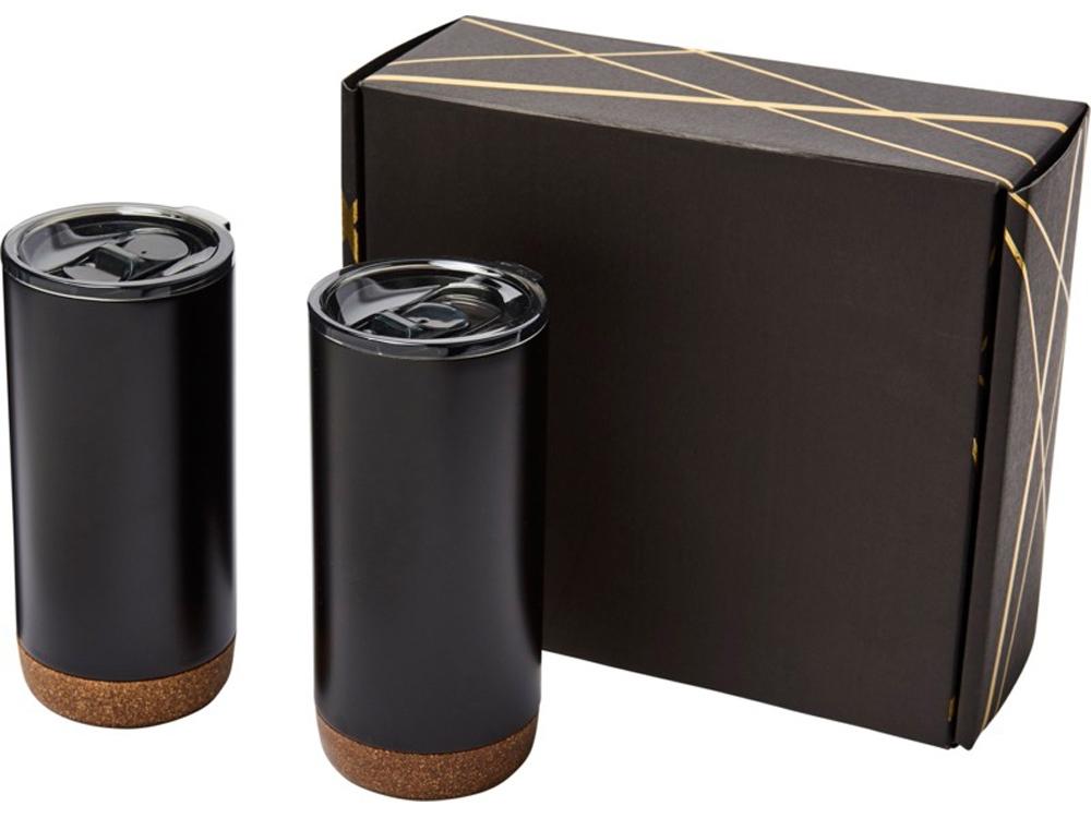 Подарочный набор медных термокружок с вакуумной изоляцией Valhalla, черный