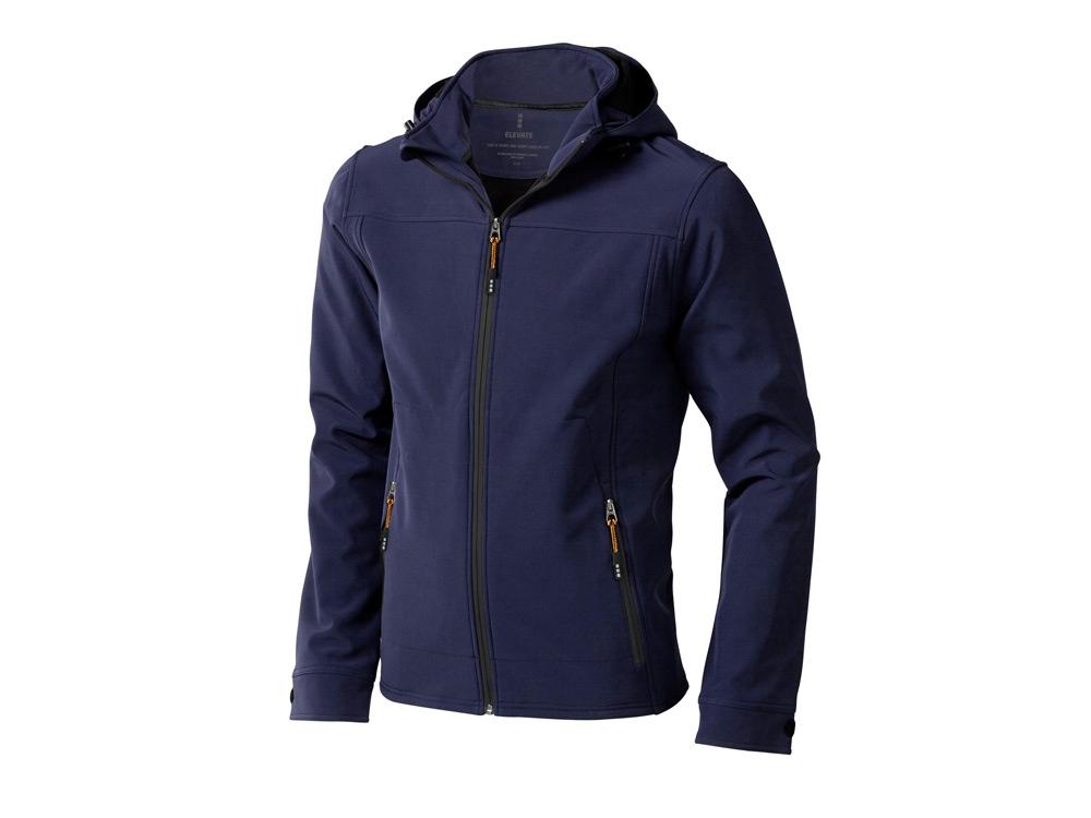 Куртка софтшел Langley мужская, темно-синий