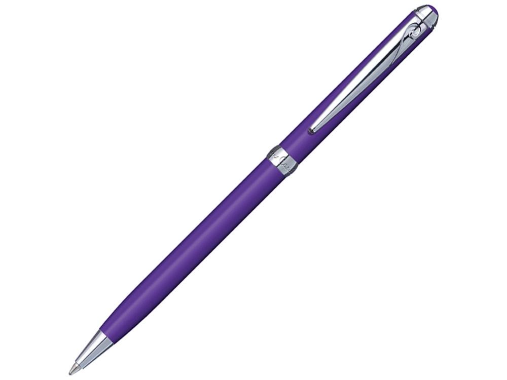 Ручка шариковая Pierre Cardin SLIM с поворотным механизмом, фиолетовый/серебро