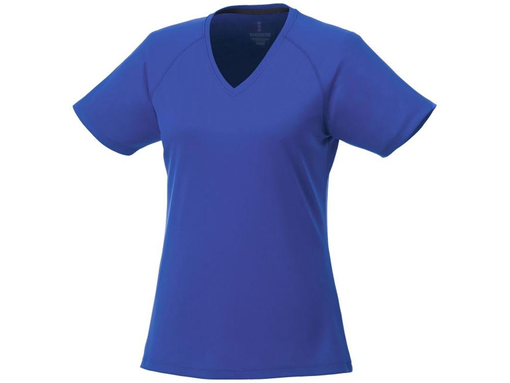 Модная женская футболка Amery  с коротким рукавом и V-образным вырезом, синий