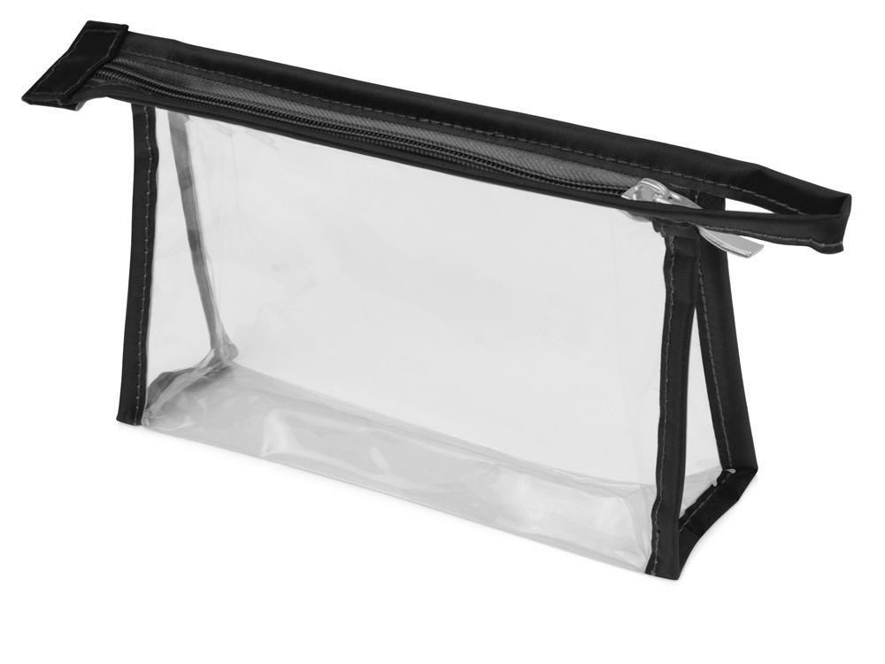 Прозрачнаяпластиковаякосметичка Lucy,черный