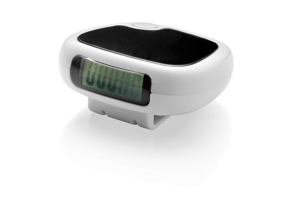 Трекинговый шагомер с экраном LCD Trackfast, белый/черный
