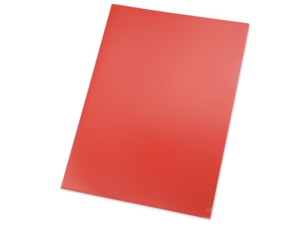 Папка- уголок, для формата А4, плотность 180 мкм, красный