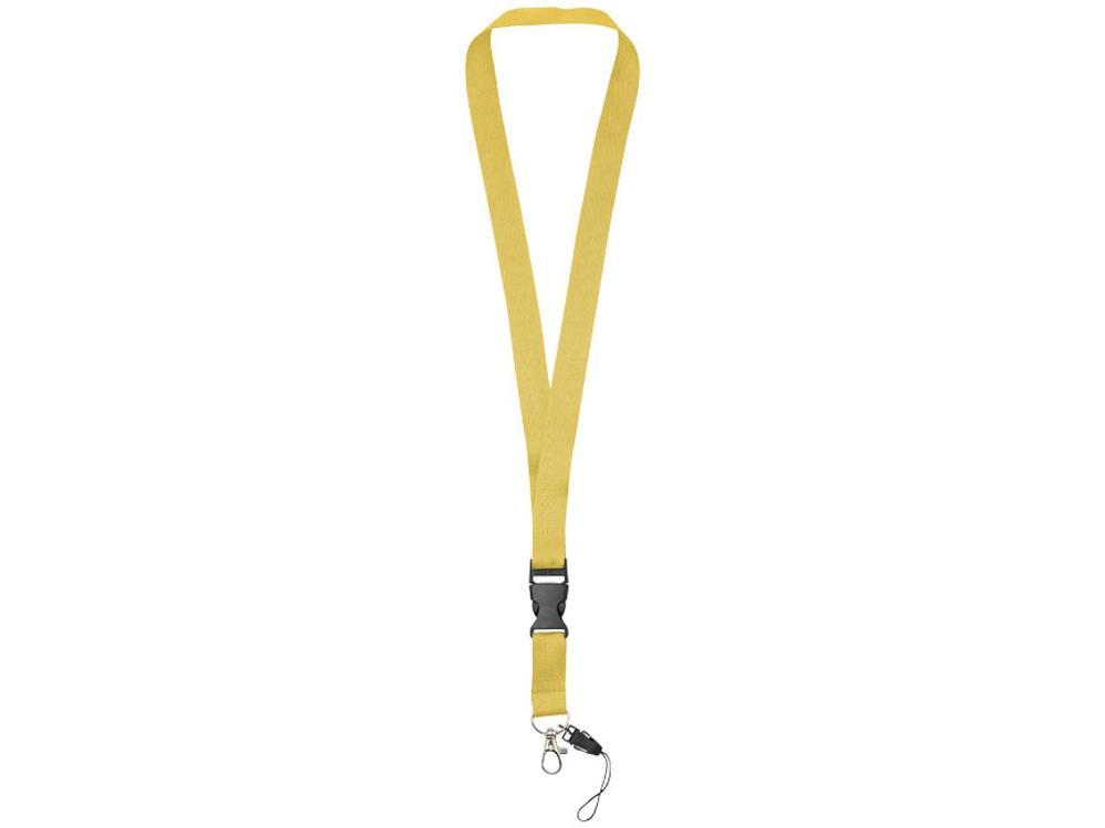 Шнурок Sagan с отстегивающейся пряжкой, держатель для телефона, желтый