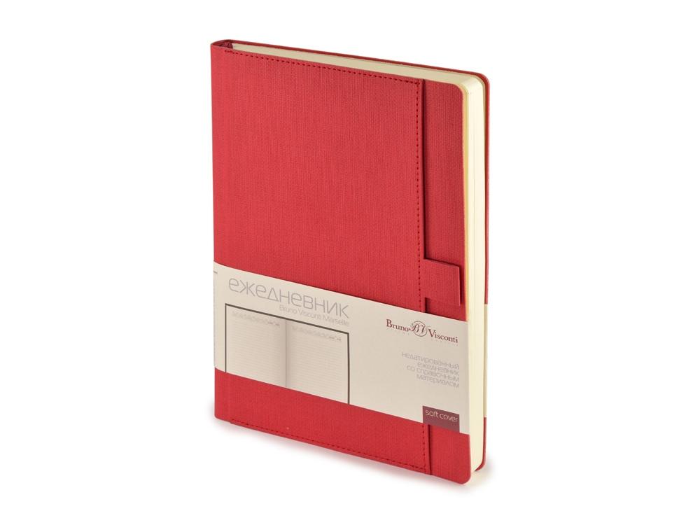 Ежедневник недатированный А5 Marseille, красный